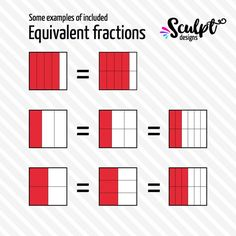 Square fractions clipart: math clipart: geometry clipart.