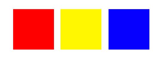 Primary colors clip art.