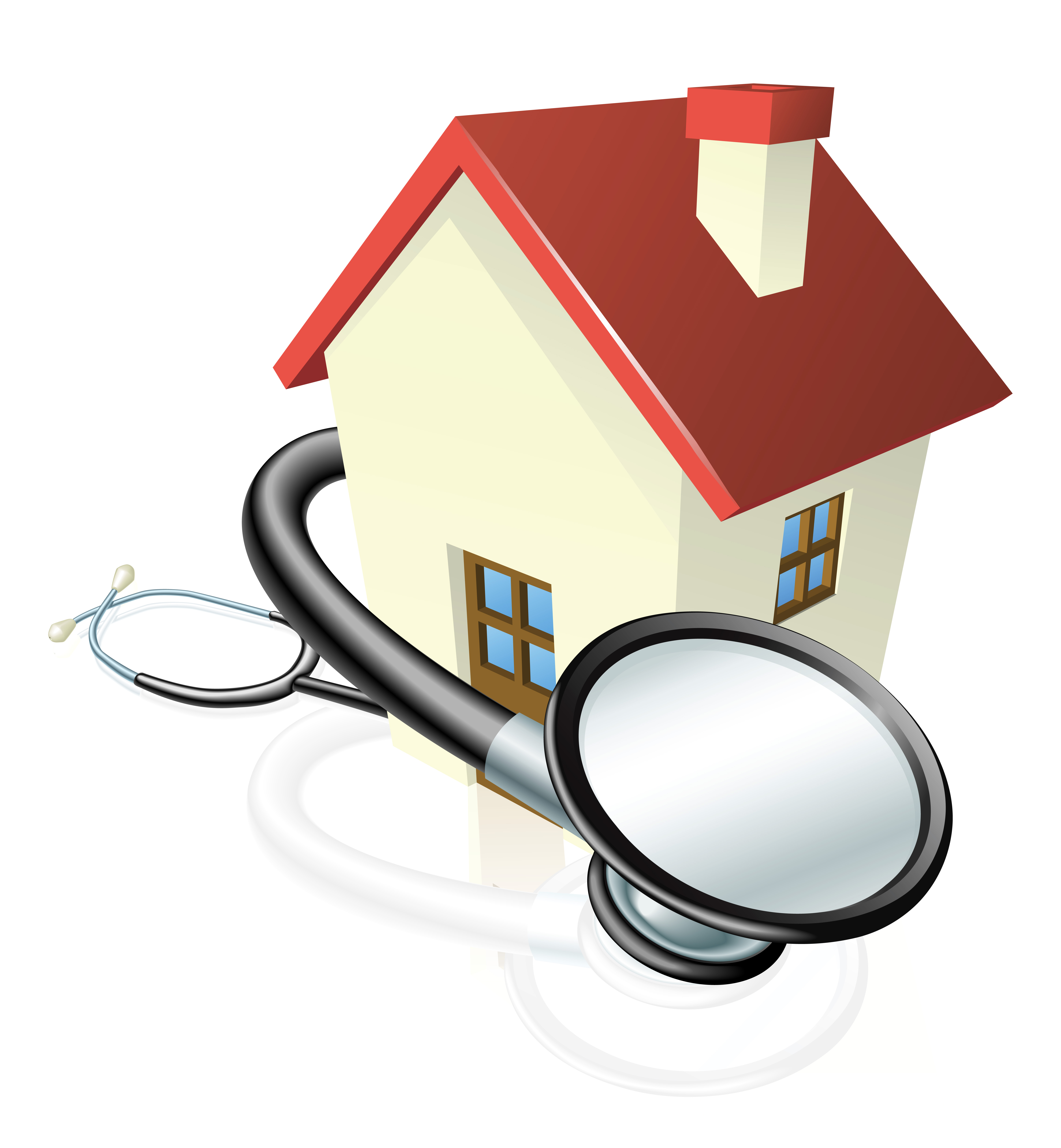 House and stethoscope concept.