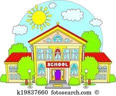Primary school building Clip Art Royalty Free. 518 primary school.