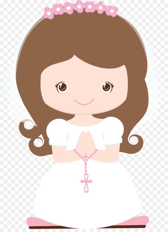 A primeira Comunhão, Eucaristia Criança Batismo Clip.