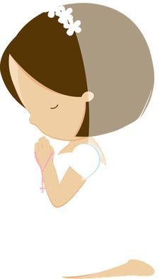 Resultado de imagem para menina rezando clipart.
