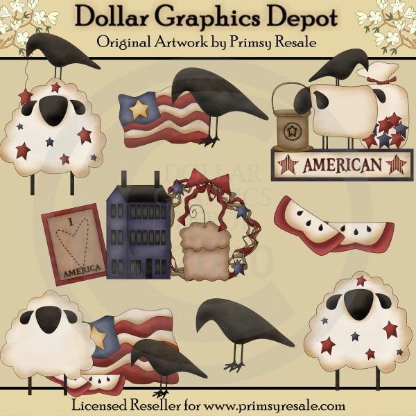 Prim / Primitive Clip Art : Dollar Graphics Depot.