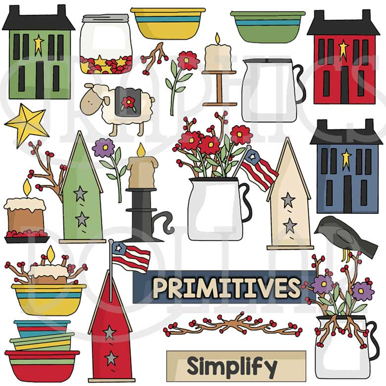 Simplify Primitive Clip Art.