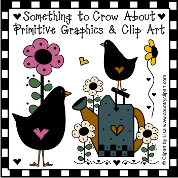 Primitive Crows Inspirational Graphics Clip Art Collection.