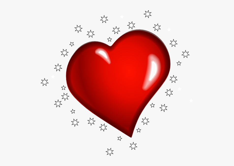 Primitive Heart Clipart.