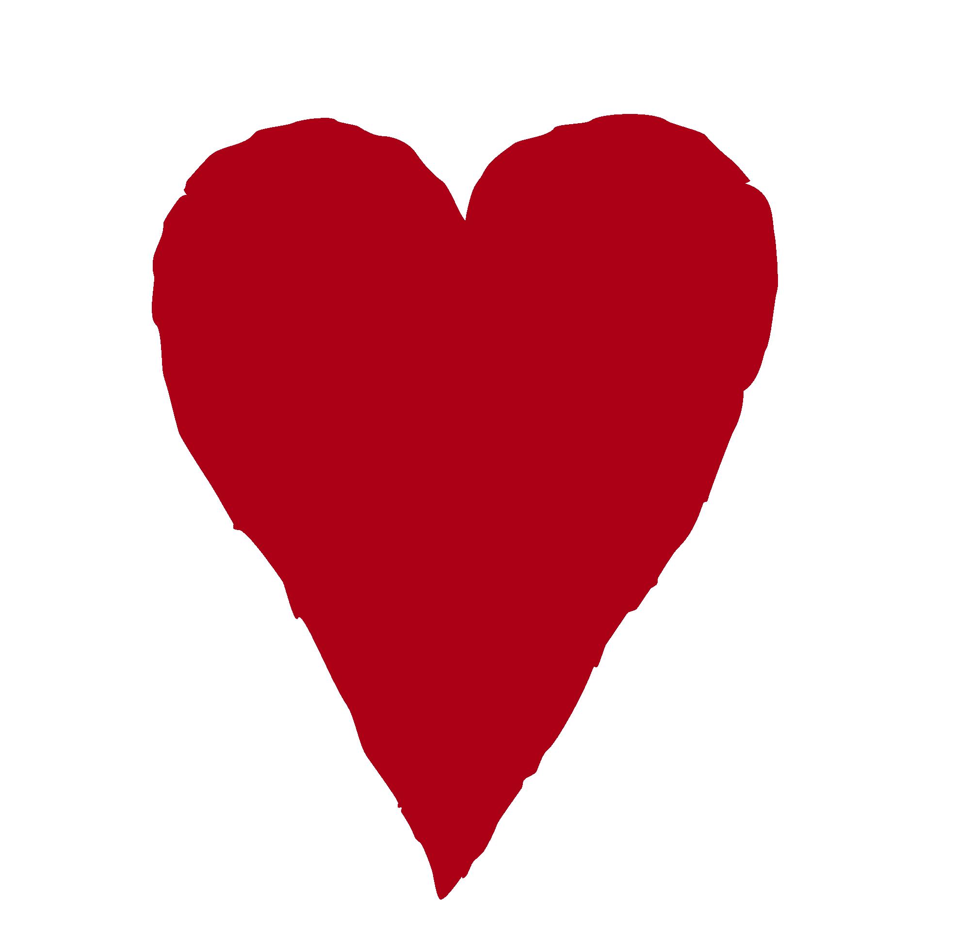 Primitive heart with arrow clipart.