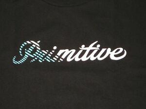 Details about Primitive Apparel Skateboarding Fade OG Script Logo Diamond  Blue Black Shirt.