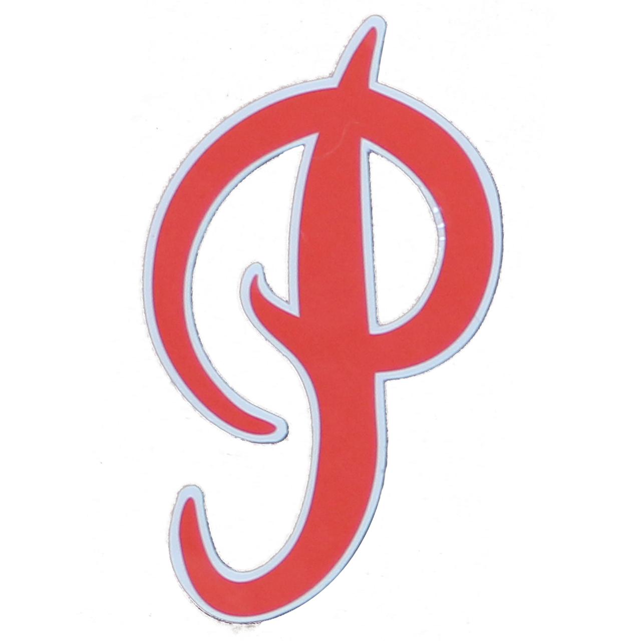 Primitive Sticker P Logo Red 4.5\