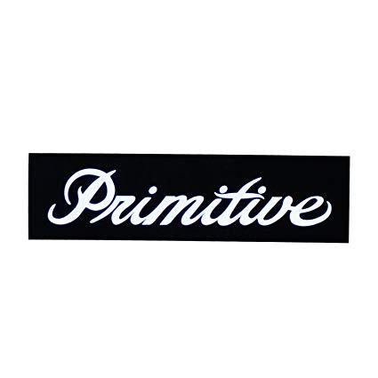 Amazon.com : Primitive Skateboard Sticker Bar Logo Black.
