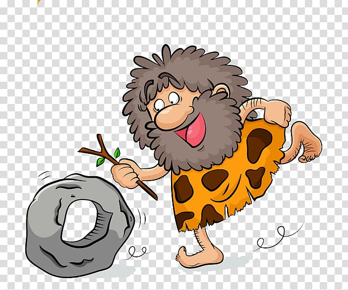 Prehistory Stone Age Caveman Drawing , Playing in the.