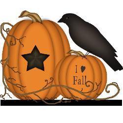Primitive Fall Cliparts.
