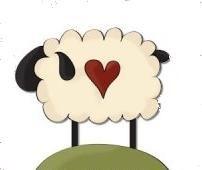 Primitive Sheep Clipart.