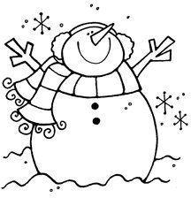 primitive snowman clipart black and white.