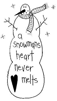 Primitive Snowman Clipart.