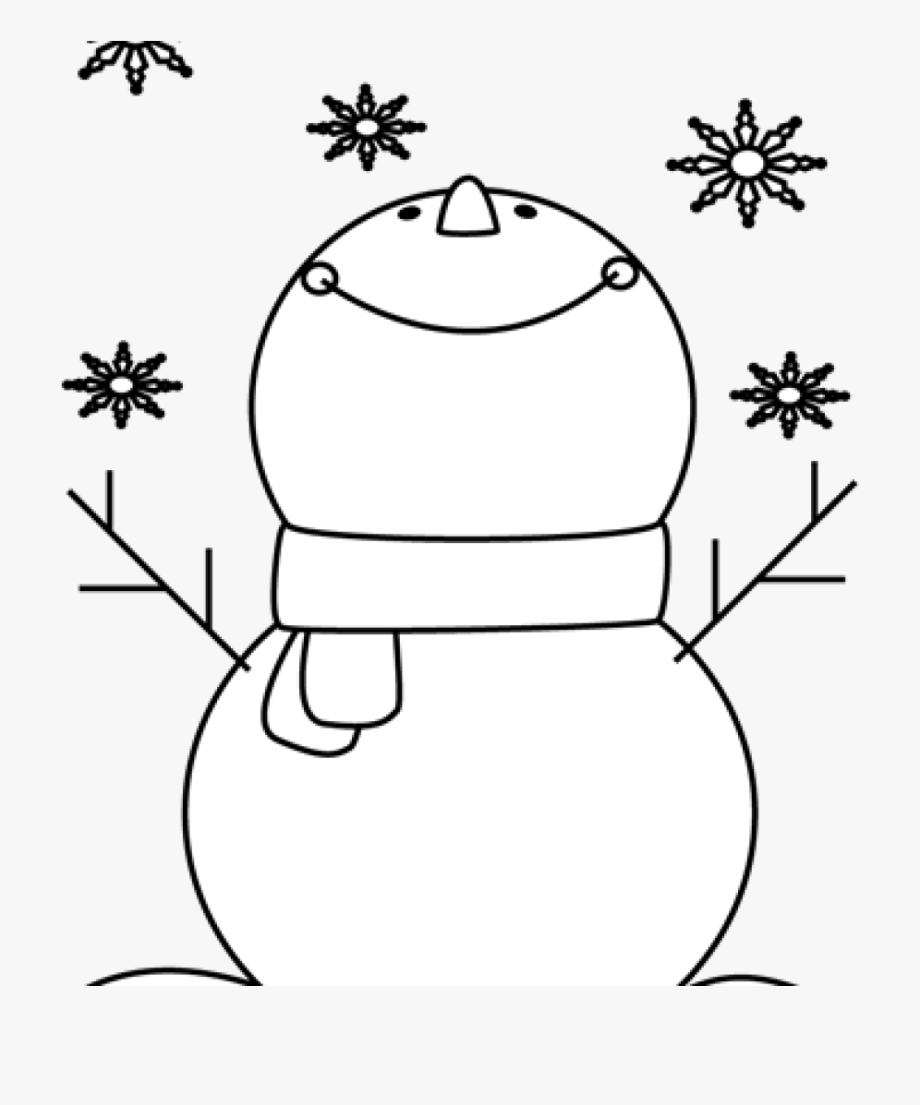 Snowman Clipart Plain.