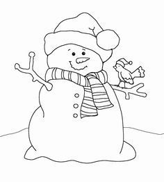 Image result for primitive snowman clipart black and white.