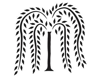 Primitive Willow Tree Clipart.