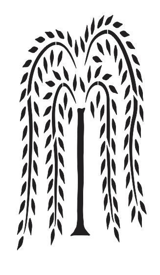 Details about Tall Willow Tree STENCIL for Primitive Signs.