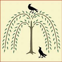 Primitive Willow Tree Clip Art.
