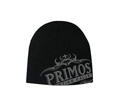 Amazon.com : Primos Logo Skull Cap with Antlers (Black) by.