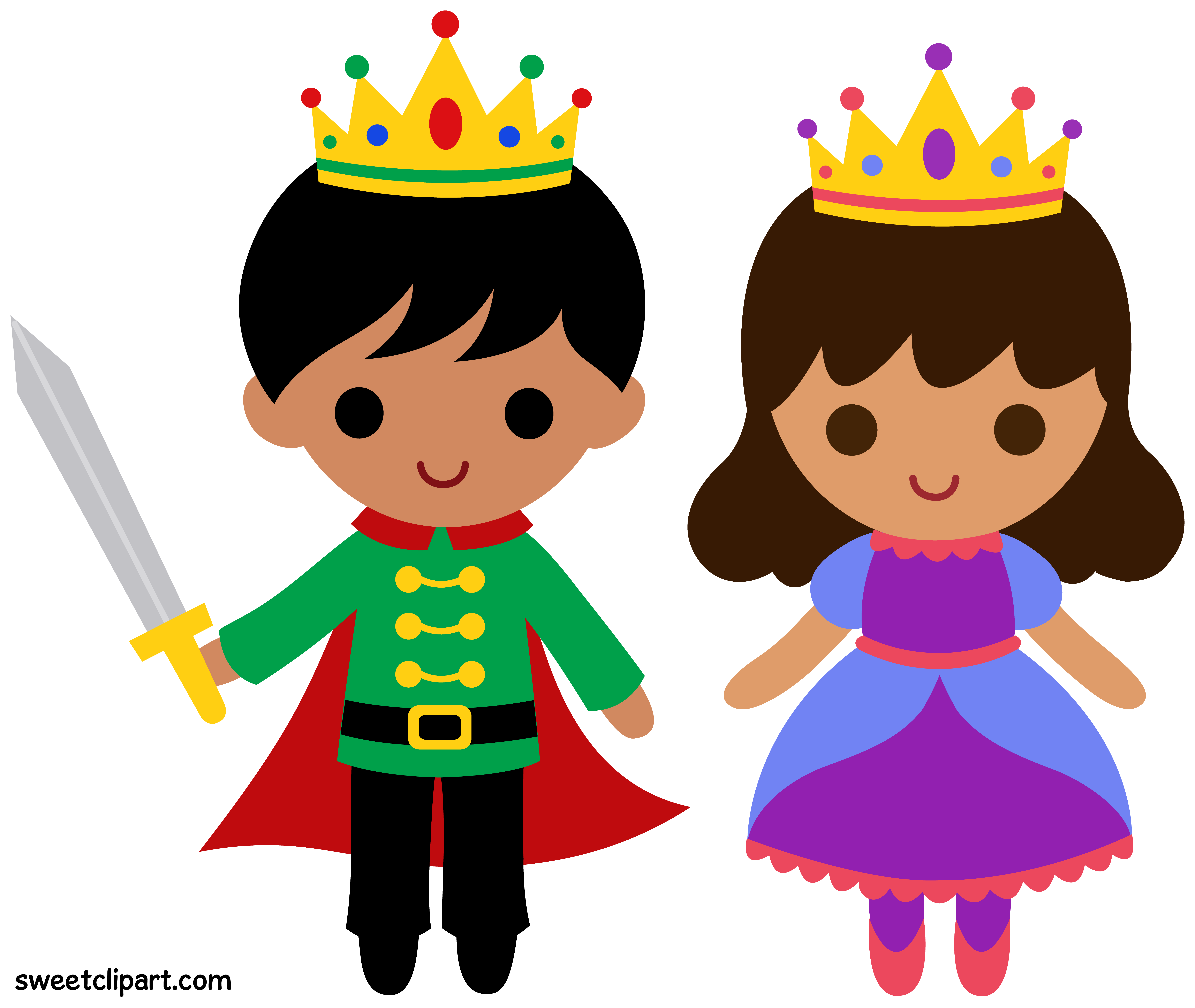 Prince and Princess Clip Art 2.