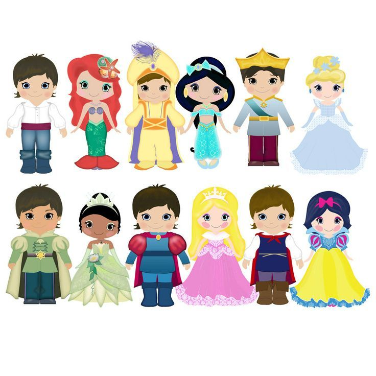 disney prince and princess clip art.