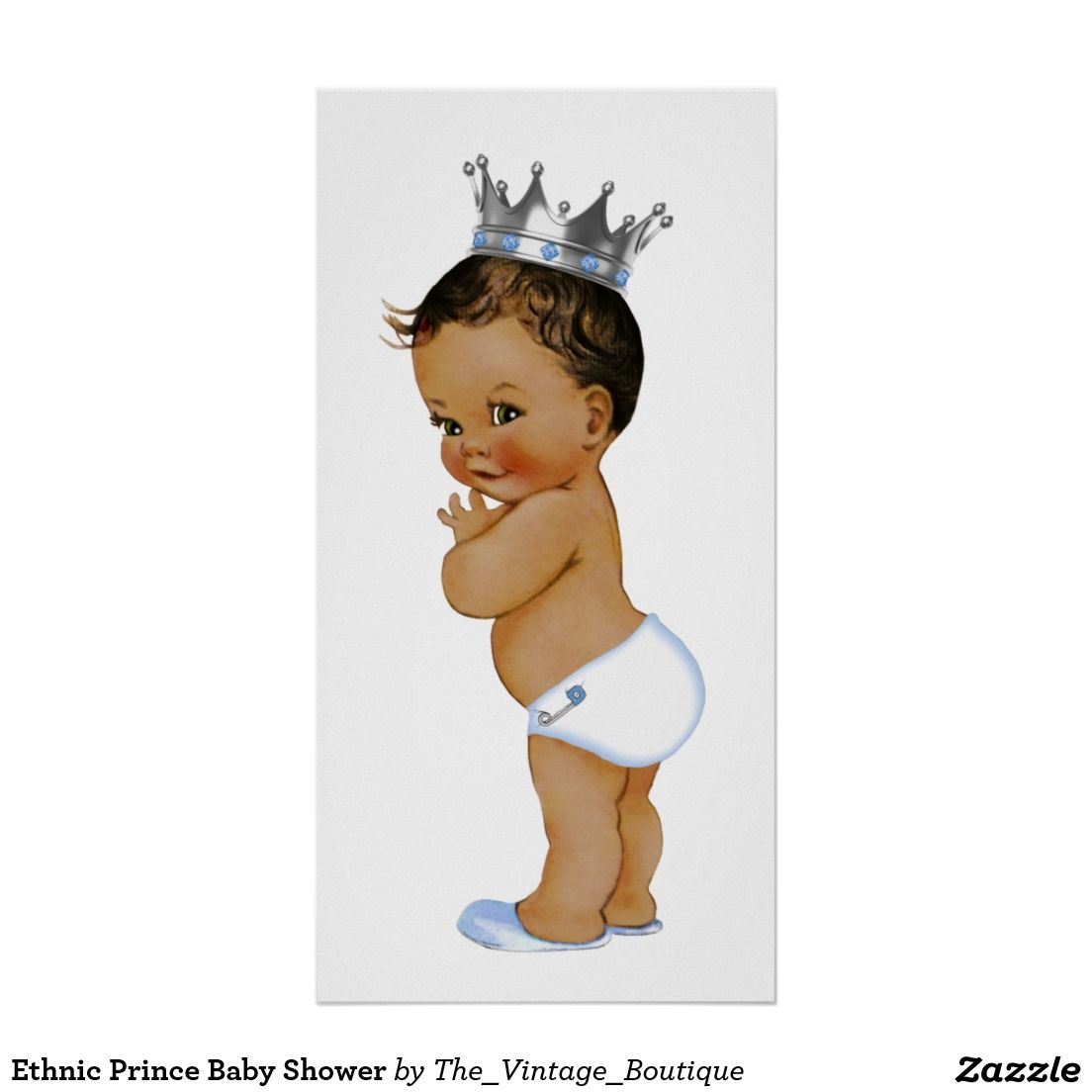 Ethnic Prince Baby Shower Poster.