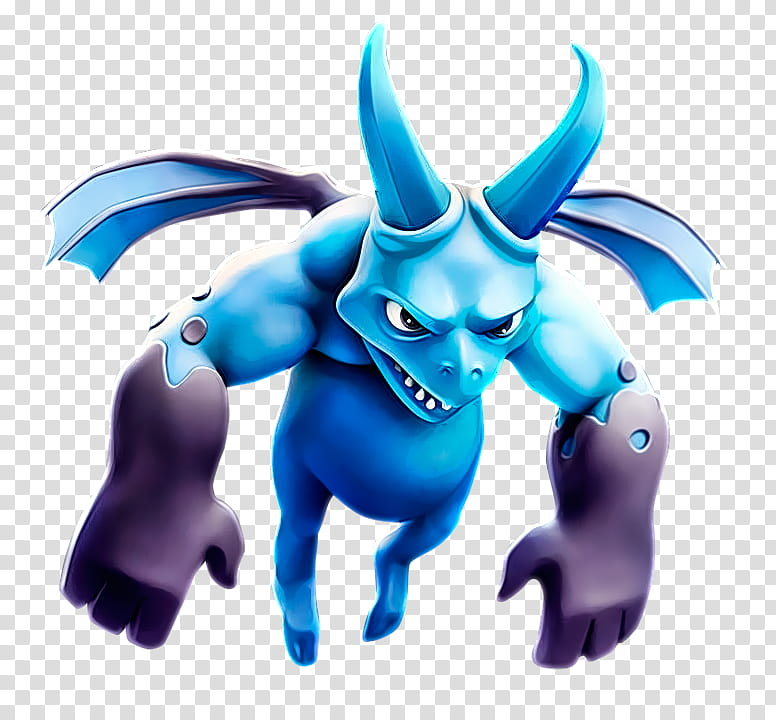 Clash Royale Minion Render, blue bat cartoon character.