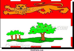Flag of Prince Edward Island Vector Clip art.