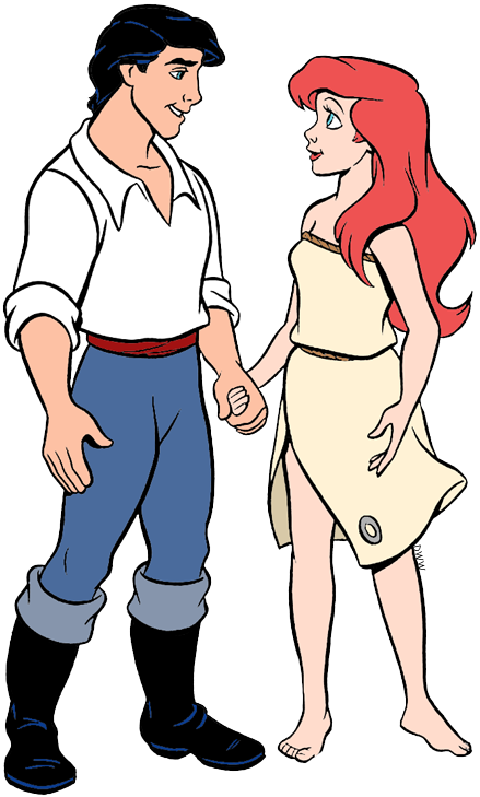 Ariel and Eric Clip Art.