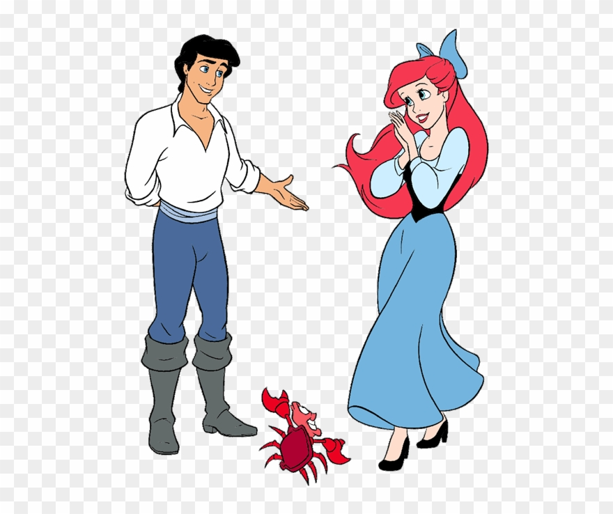 Ariel And Eric Clip Art 2 Disney Clip Art Galore Little.