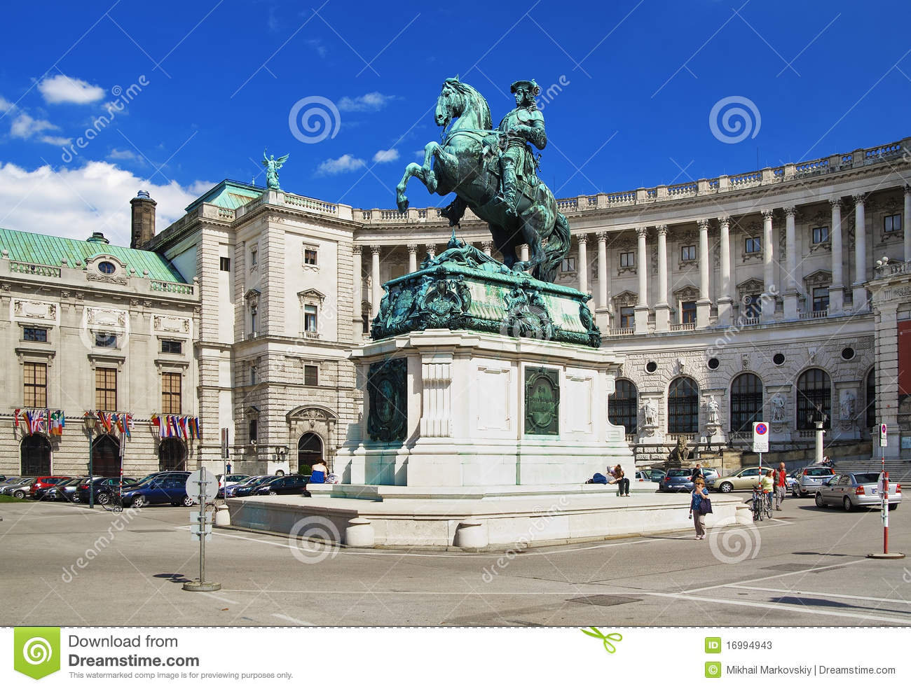 Monument Of Prince Eugene Of Savoy In Vienna Editorial Stock Photo.