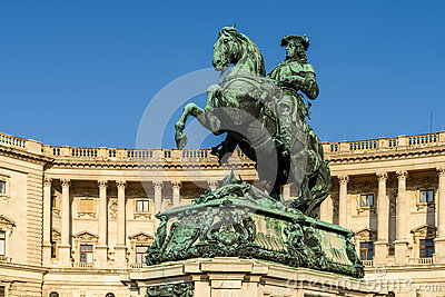 Statue Of Prince Eugene Of Savoy In Vienna Stock Photo.