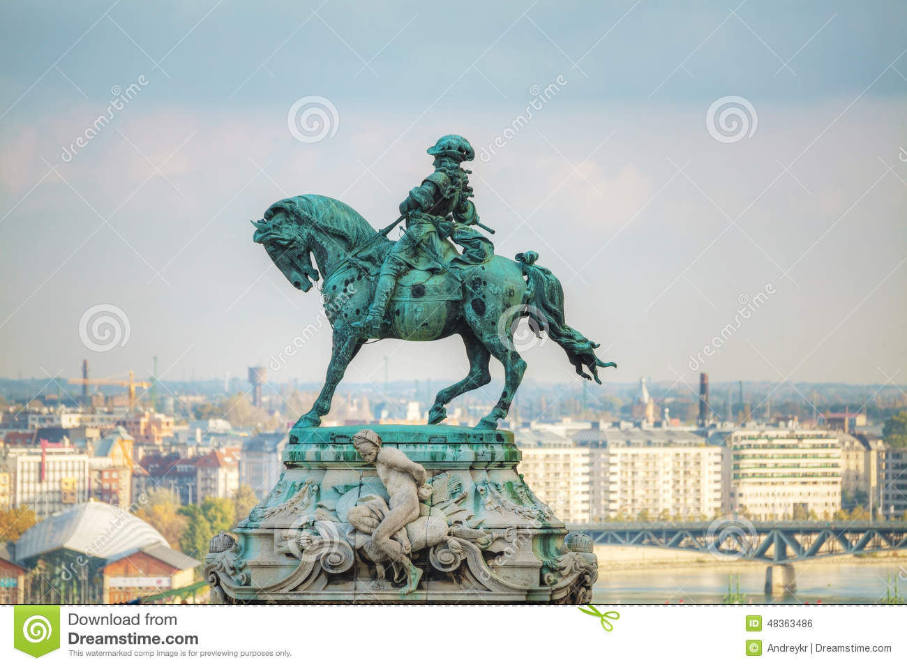 Statue Of Prince Eugene Of Savoy At The Royal Castle Editorial.