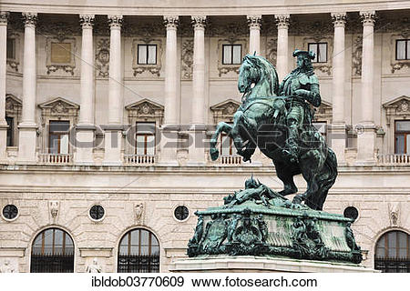 "Stock Photograph of ""Equestrian statue, Prince Eugene of Savoy."