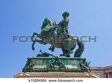 Stock Photo of Monument for Prince Eugene of Savoy (1865). Vienna.