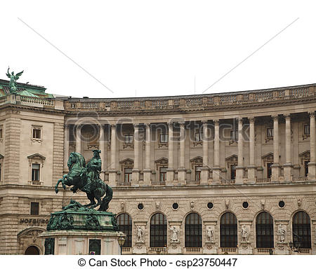 Stock Photo of Prince Eugene of Savoy statue Neue Burg of Hofburg.