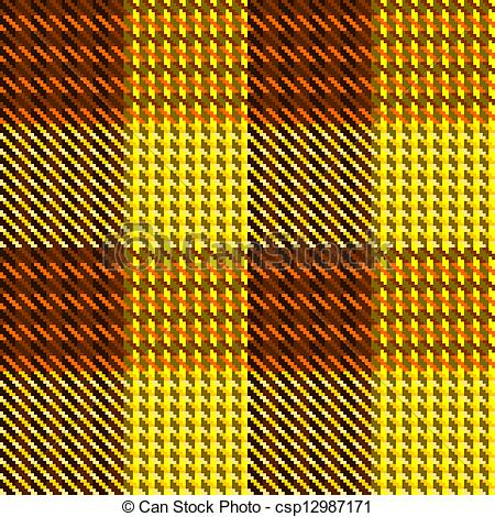 Vectors Illustration of Brown and yellow check.