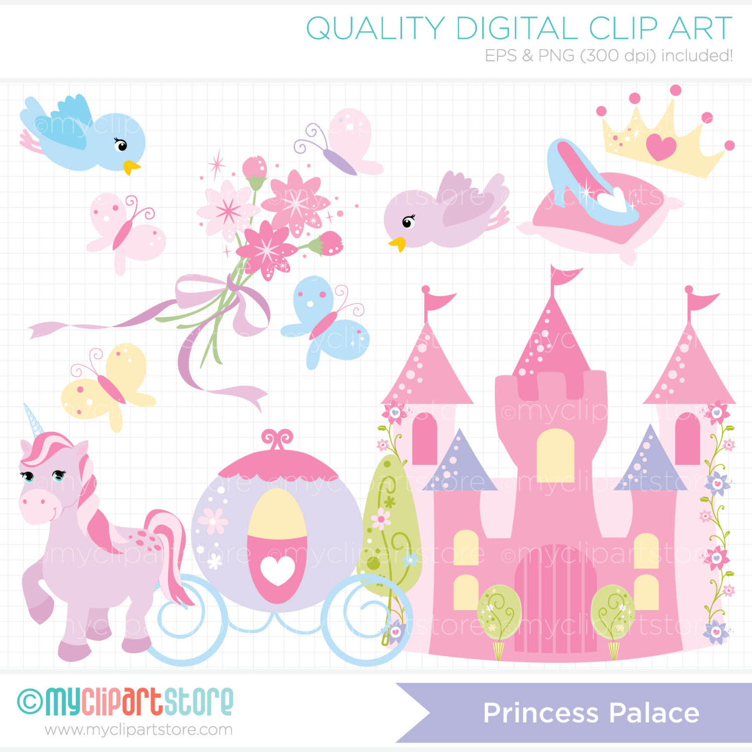 Disney Princess Castle Clipart.