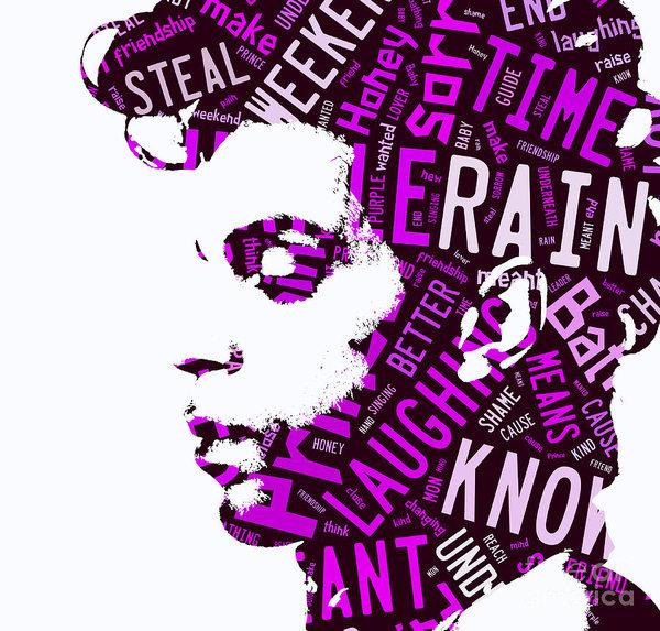 Prince Purple Rain Lyrics Art Print.