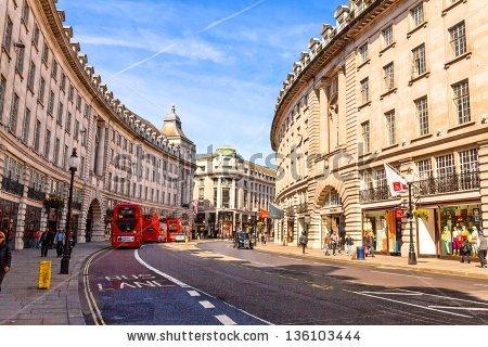 Crowded London Street Stock Photos, Royalty.