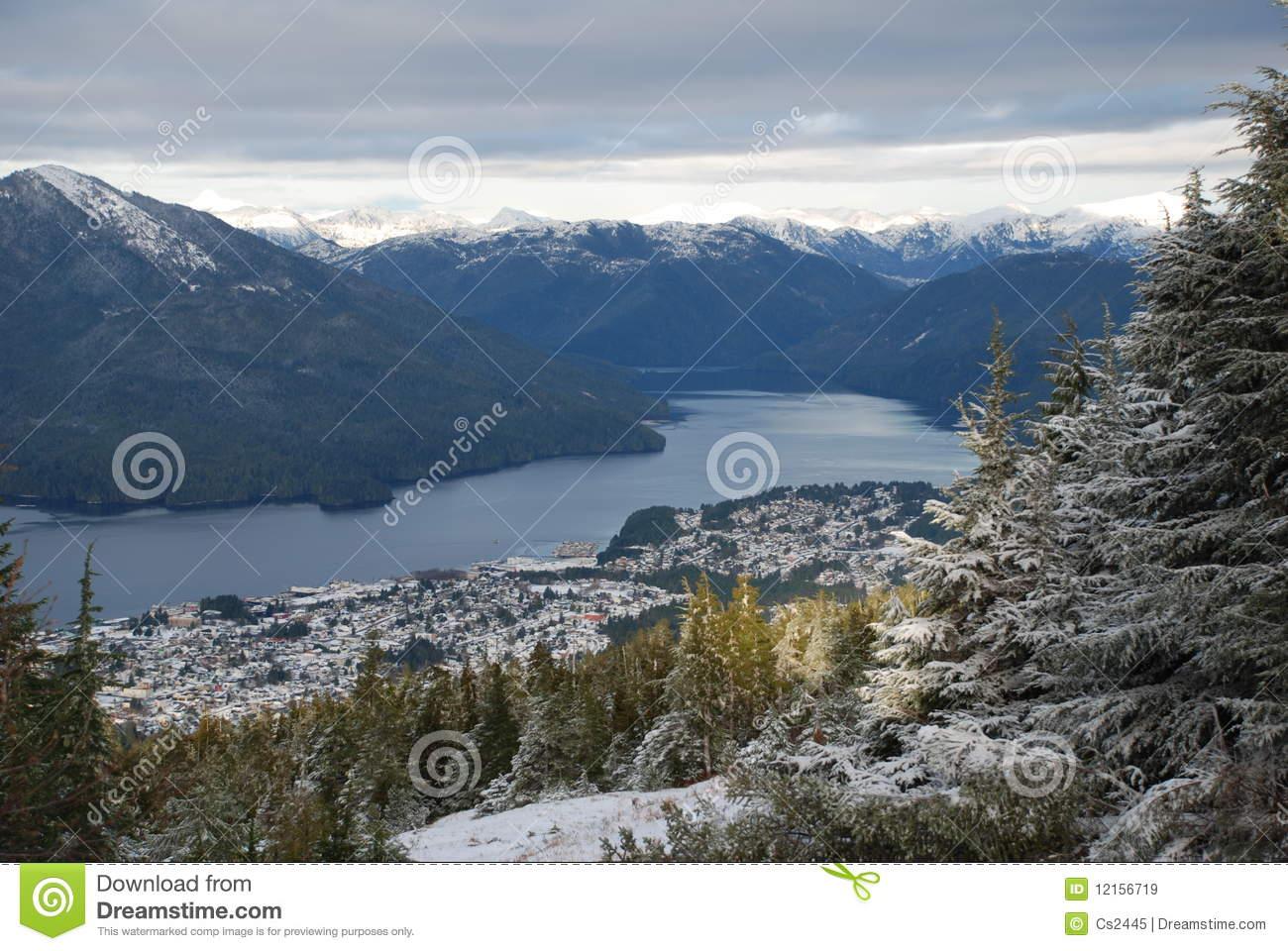 Prince Rupert, BC Airial View Royalty Free Stock Images.