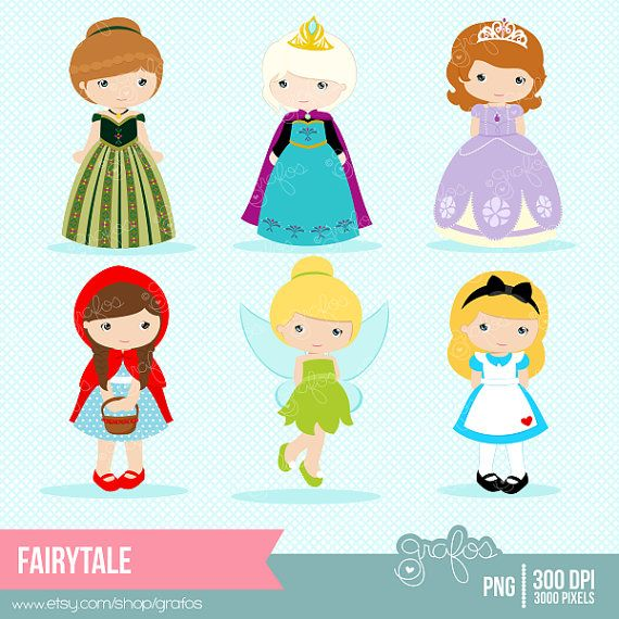 FAIRYTALE Digital Clipart , Princess Clipart, Fairy Tale.