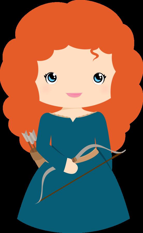 Free Princess Merida Brave Clip Art.