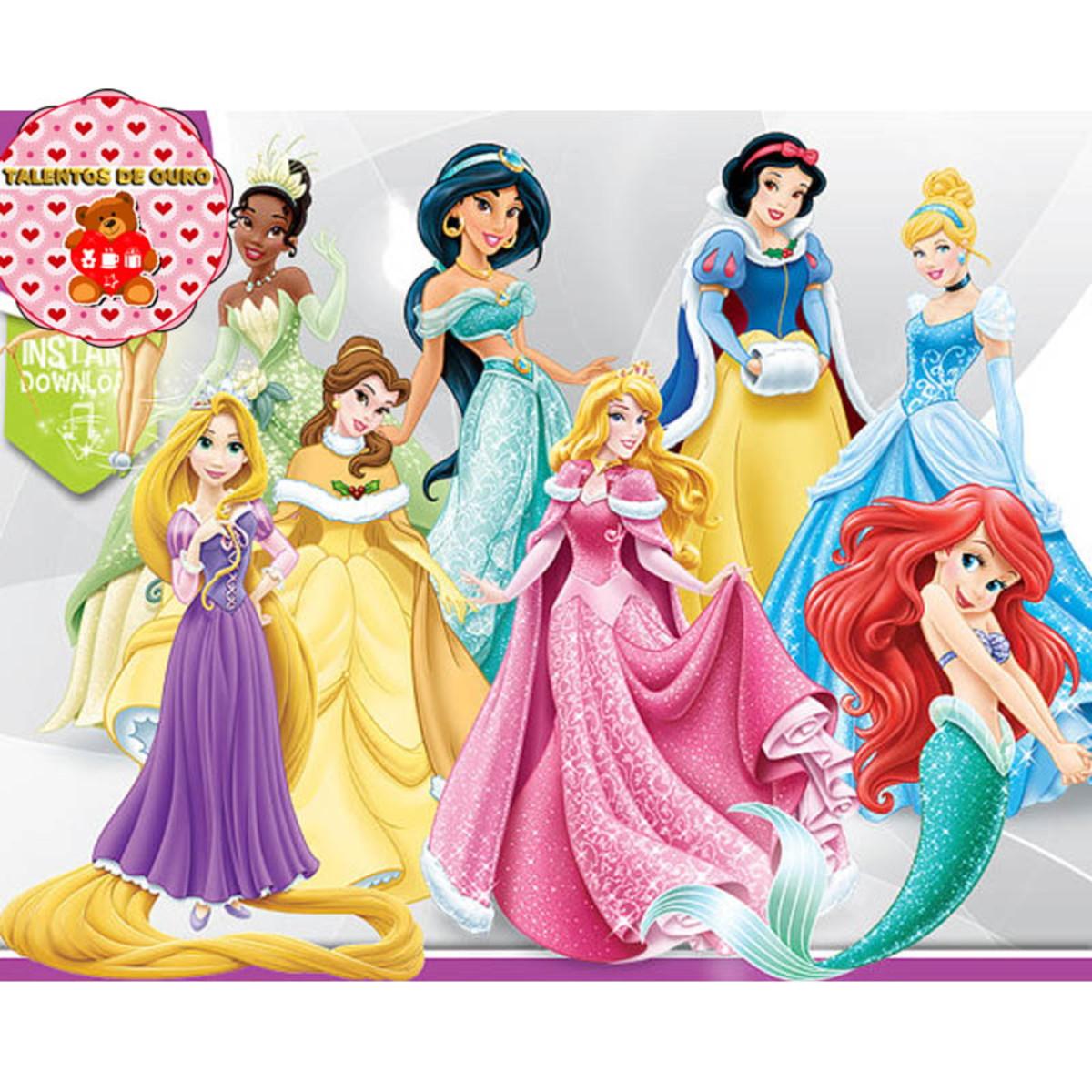 Kit Digital Princesas da Disney Clipart Scrap PNG.
