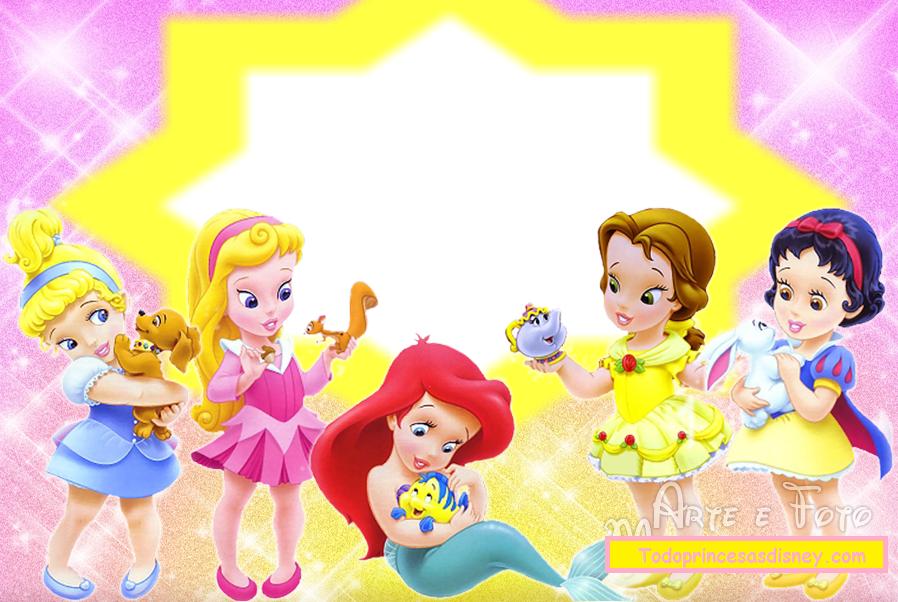 Princesas Disney Bebés: Invitaciones o Marcos de Fotos para.