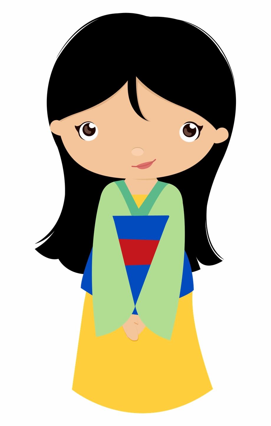 Princesa Mulan, Disney Chibi, Disney Clipart, Girl.