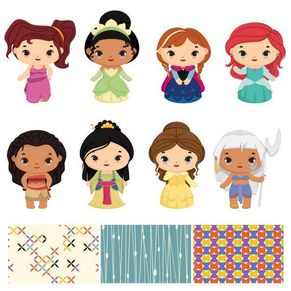 Princess and Prince Clip art bundle , Cute prince sticker.