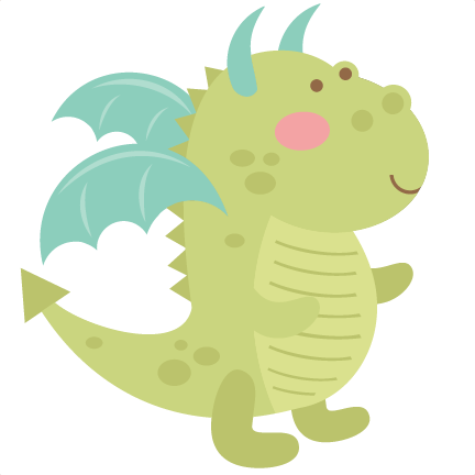 Dragon SVG cutting file cute dragon clipart dragon svg cut file.